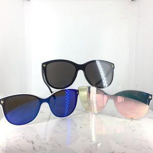 Accessories - Flat Lens Mirrored Sunglasses Cat Eye